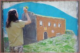 Peinture avec Elisabeth