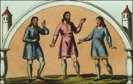 Anglo-saxons en tuniques brodées