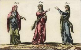 Anglo-saxonnes en tunique