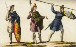 Anglo-saxons en tenue de combat
