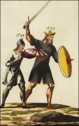 F44: Ecuyer du roi Anglo-saxon // F45: Le roi Anglo-saxon en cotte d'armes