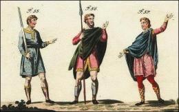 Anglo-saxons en tenue de voyage