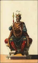 Roi Anglo-saxon avec son spectre et sa couronne