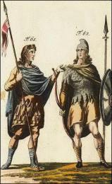Anglo-saxons se préparent à partir au combat