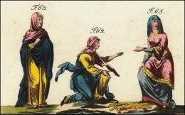 F63 et 64: Anglo-saxonne en manteau // F65: en tunique