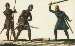 Danois en cotte d'armure au combat