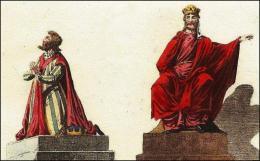 F85: Robert, son costume, son trône  //  F86: Dagobert, son costume