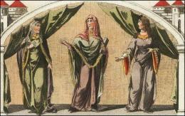 F125, 126 et 127: Nobles Normande en tunique et manteau