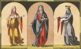 F131, 132, 133: Nobles Normande, sa robe, son voile, son diadème