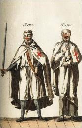 F175: Templier en habit militaire  //  F176: Costume des Templiers dans leur maison
