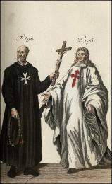 F194: Raimond du Puy, premier Grand-Maître de l'ordre de St. jean de Jérusalem  //  F195: Chevalier de l'ordre de St. Jacques, en habit de cérémonie