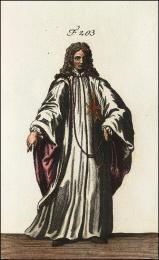 F203: Chevalier de l'ordre de St. Etienne, en habit de cérémonie