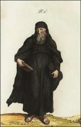 Religieux Grec en petit habit