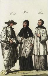 F10: Chanoine régulier Prémontré, en habit de ville  //  F11: Chanoine régulier et hospitalier de l'ordre du S. Esprit, en France  //  F12: Ancien chanoine régulier de l'hôpital de S. Jean de Beauvais