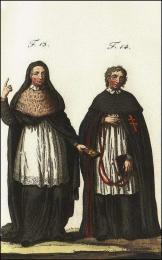 F13: Chanoine régulier de la cathédrale de Pampelune  //  F14: Chanoine régulier de l'ordre du S. Sépulcre, en Allemagne et en Flandres