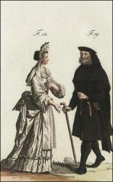 F18: Ancienne religieuse de l'ordre de S. Dominique, du monastère de S. Barthélémi, à Aix en Provence  //  F19: Ancien habillement des Alexiens ou Cellites
