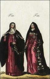 F22: Religieuse hospitalière de l'ordre de S. Jean de Jérusalem, en habits de cérémonie  //  F23: Hospitalière de l'ordre de S. Jean de Jérusalem, du monastère de Toulouse, en habits de choeur
