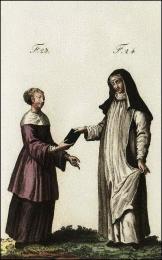F24 et 25: Religieuses Augustines du monastère de Sainte-Catherine-les-Cordiers, à Rome
