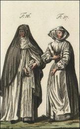 F36: Religieuse du Mont-de-la-Vierge, en habits de cérémonie  //  F37: Religieuse de l'Humilité de Varèse