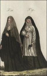 F38: Bénédictine de S. Zacharie, à Venise, en habits de choeur  //  F39: Chanoinesse de Cologne, en habis de choeur