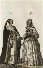 F40: Chanoinesse de Mons, en habits de choeur, dans la deuxième année de sa réception  //  F41: Chanoinesse de Denain, hors du choeur