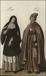F42: Bénédictine de Bourbourg, en habits de novice  //  F43: Frère de l'Humilité, ou Barettin de la Pénitence, du premier ordre