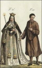 F46: Chartreuse en costume de cérémonie, le jour de la prise d'habits  //  F47: Religieux Donat de l'ordre des Chartreux