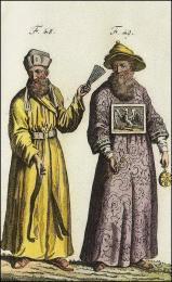 F48: Missionnaire Jésuite, en habits de religieux Chinois  //  F49: Missionnaire Jésuite, en habits de Mandarin Chinois