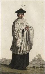 F51: Oblationnaire du collège S. Ambroise, en costume de procession publique